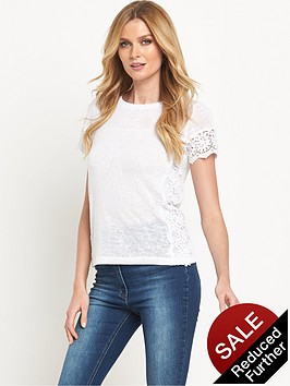 v-by-very-crochet-side-panel-t-shirt