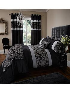 glamour-jacquard-duvet-cover-and-pillowcase-set-black