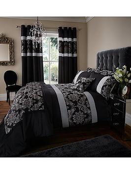 glamour-jacquard-duvet-cover-and-pillowcase-set-black