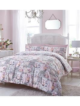 cafe-de-paris-duvet-cover-set-pink