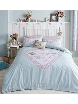 catherine-lansfield-heart-panel-duvet-cover-set-duck-egg