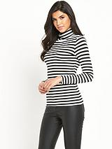 STRIPE TURTLE NECK TOP