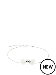 link-up-link-up-sterling-silver-ankle-bracelet-with-three-glass-beads