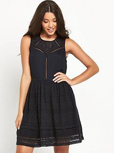 superdry-lace-panel-skater-dress
