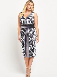 forever-unique-curve-curve-zip-front-midi-dress