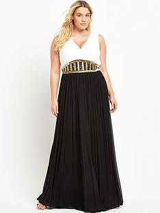 forever-unique-curve-curve-v-neck-embellished-maxi-dress