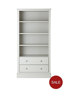dover-ready-assembled-2-drawernbspbookcase-soft-grey