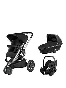 quinny-buzz-foldable-carrycot-pebble-car-seat-bundle-black