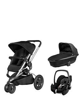 Quinny Buzz Foldable Carrycot Pebble Car Seat Bundle  Black