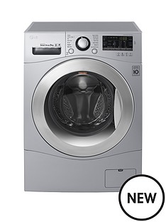 lg-fh4a8tdna-8kg-load-1400-spin-washing-machine-silver