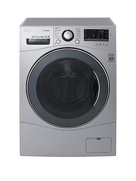 lg-fh4a8jds4-10kg-load-1400-spin-washing-machine-silver