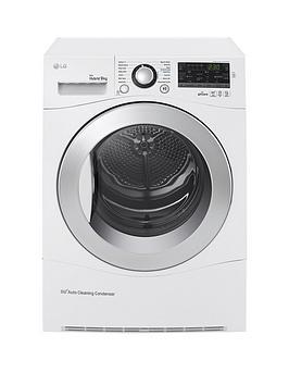 Lg Rc9055Ap2F 9Kg Condenser Sensor Tumble Dryer  White