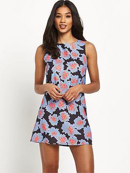 glamorous-floral-shift-dress