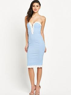 rare-lace-trim-bodycon-dressnbsp