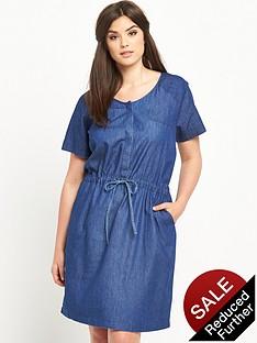 junarose-curve-chambray-tie-waist-dress-sizes-14-26