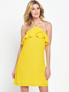 v-by-very-frill-halterneck-dress