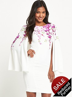 v-by-very-orchid-print-cape-dress