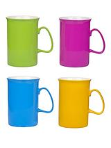 Set of 4 Bright Mugs