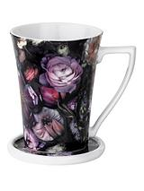 SHADOW FLORAL FLARED MUG AND COASTER