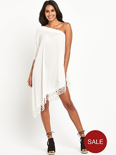 v-by-very-crochet-trim-one-shoulder-beach-dressnbsp