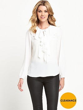 v-by-very-tie-ruffle-front-blouse