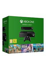 500Gb Console Kinect Bundle with Kinect Sports Rivals, Zoo Tycoon and Dance Central with Optional 12 Months Xbox Live