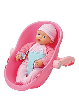 Baby Born My Little Baby Born Supersoft Doll &Amp Comfort Seat