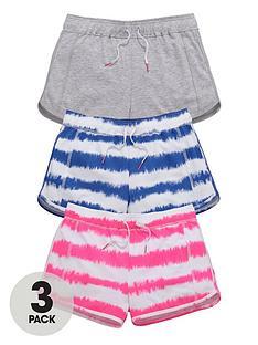 v-by-very-girls-tie-dye-shorts-3-pack