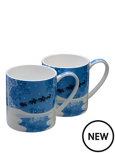arthur-price-sleighride-bone-china-mugs-set-of-2