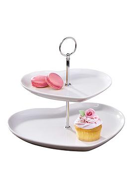 HEART 2 TIER CAKE STAND