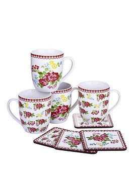 vintage-rose-4-mugs-and-4-coasters