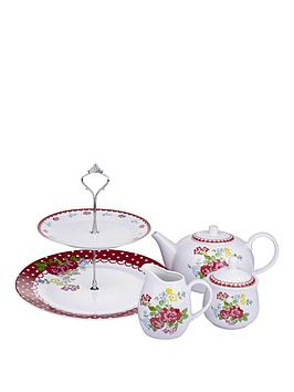 vintage-rose-fruit-tea-set-4-piece