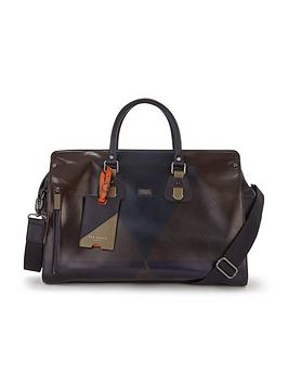 ted-baker-printed-leather-holdall
