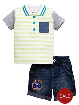 ladybird-baby-boys-polo-shirt-and-denim-shorts-2-pack