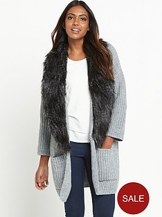 v-by-very-removable-faux-fur-trim-rib-cardigan