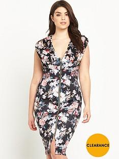 ax-paris-curve-chiffon-and-scuba-zip-dress