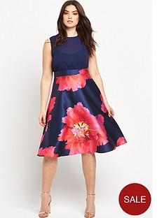 ax-paris-curve-ax-paris-curve-floral-print-dress