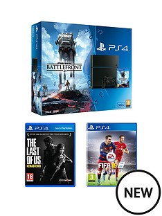 playstation-4-500gb-console-star-wars-battlefront-bundle-with-the-last-of-us-and-fifa-16
