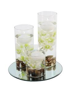 hestia-set-of-3-floating-candles-with-vases-and-white-flowers-on-a-mirrored-base