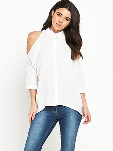 ax-paris-cold-shoulder-blouse