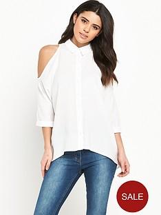 ax-paris-cold-shoulder-blouse