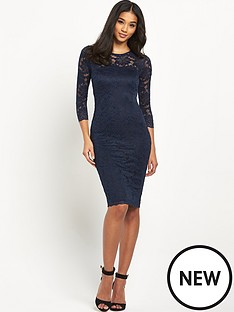 ax-paris-long-sleeve-crochet-midi-dress