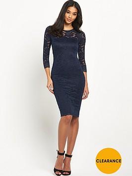 ax-paris-long-sleeve-crochet-midi-dress