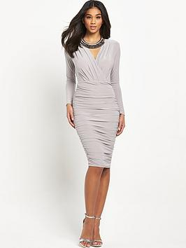 ax-paris-ruched-dress