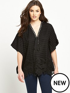 v-by-very-eyelet-lace-cape-top