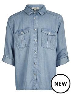 river-island-girls-denim-tencel-shirt