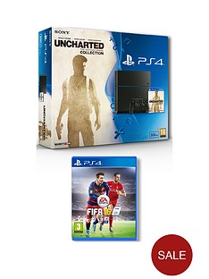 playstation-4-500gb-console-with-uncharted-collection-and-fifa-16