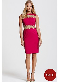 paper-dolls-paper-dolls-sleeveless-berry-dresss-with-gold-lace-inserts
