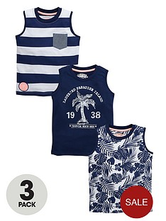 ladybird-boys-printed-tank-tops-3-pack