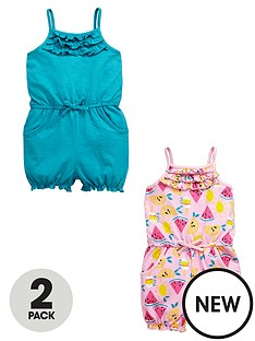 ladybird-girls-2pk-jersey-playsuits